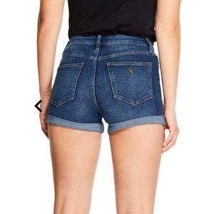 Guess High Rise Denim Shorts